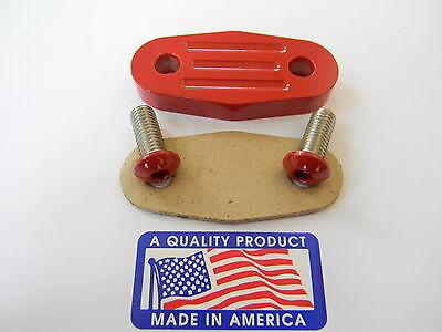 Red Powder Coat  Billet Ford EGR Blockoff / Delete  2.5, 2.9, 3.0, 3.8, 4.0, 4.6