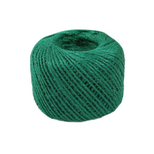 50M Soft Natural Jute Twine String Cord Wrap Hanging Craft Making Ribbon RoUBYZ