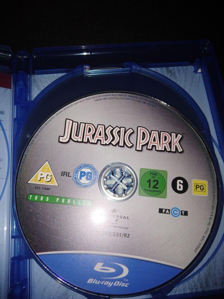 Jurassic Park collection, Blu-ray, eventyr