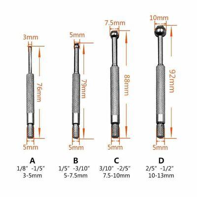 6 pcs Adjustable Inner Diameter Gauge Round Head Telescopic Measuring Gauge Tool