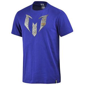 Adidas-Performance-Lionel-Messi-Maglietta-T-Shirt-Top-da-Uomo-Viola-G92214-A6E