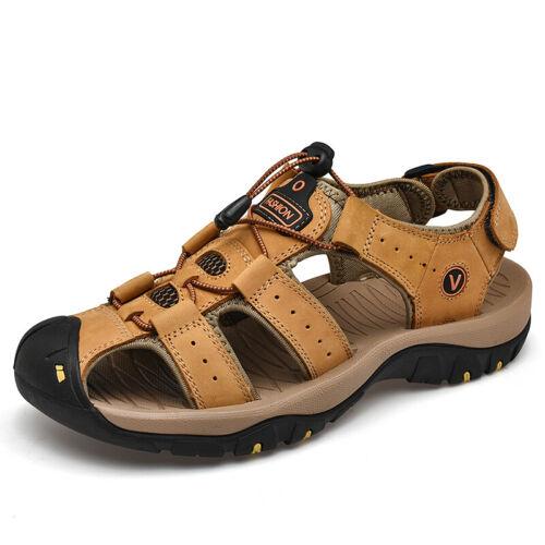 Genuine Leather Men Sandals Summer Outdoor Beach Slippers Casual Walking Sneaker
