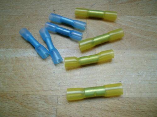 schrumpfbar pour voiture ++ 20 joints droits Bleu//Jaune elekro