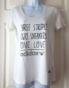 01ad0dbe5 Image is loading Adidas-Originals-Women-Graphic-T-shirt-Three-Stripes-