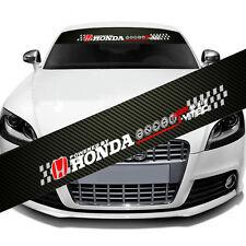 "HONDA Logo Car Window Windshield Carbon Fiber Vinyl Banner Decal Sticker 51"" DIY"