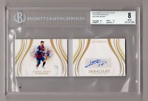 2019-20 IMMACULATE COLLECTION AUTOGRAPH BOOKLETS LIONEL MESSI /11 BGS8 BARCELONA