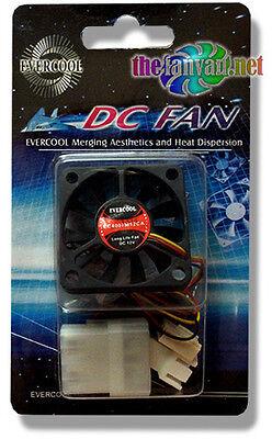 Evercool EC4007M12CA 40mm x 7mm 12v Slim Ball Bearing Cooling Fan 3//4 pin Screws