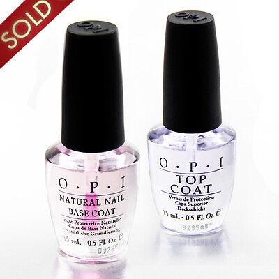 LOT 2 OPI  Vernis à ongle TOP + BASE Coat  Professionnel Nail Art Manucure
