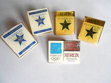Vintage Lot 5 Xerox Printing Printer Advertising Pin Pinbacks Teamwork Olympics