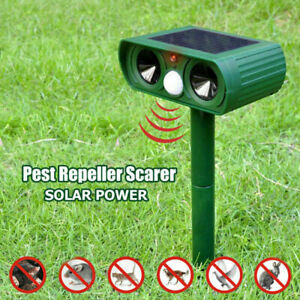 Solar-Sonic-Cat-Dog-Fox-Repeller-Pest-Deterent-Repellent-Garden-Outdoor-Defender