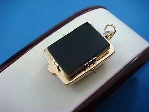 !ANTIQUE 2 SIDED 14K ROSE GOLD LOCKET-PENDANT, UNIQUE DESIGN, 27 MM X 20 MM