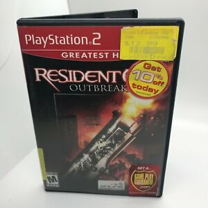 Resident Evil: Outbreak (Sony PlayStation 2, 2004) PS2 Has Manual / Tested