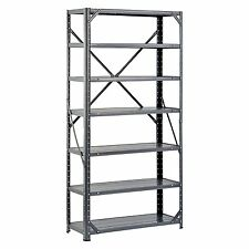 Heavy Duty Metal Rack, 7-Shelf Steel Shelving Unit, Garage Storage Organizer