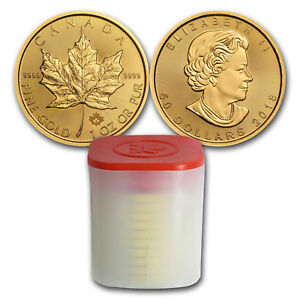 Bank Wire Payment. 2018 Canada 1 oz Gold Maple Leaf Coin (Lot of 10)
