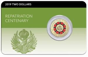 2019-2-REPATRIATION-CENTENARY-Lest-we-Forget-Coin-on-Card
