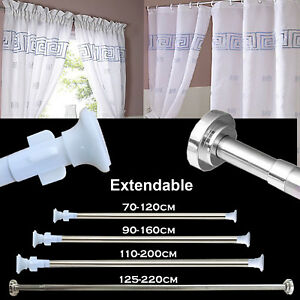 Image Is Loading Extendable Telescopic Shower Curtain Rail Rod Pole Bath