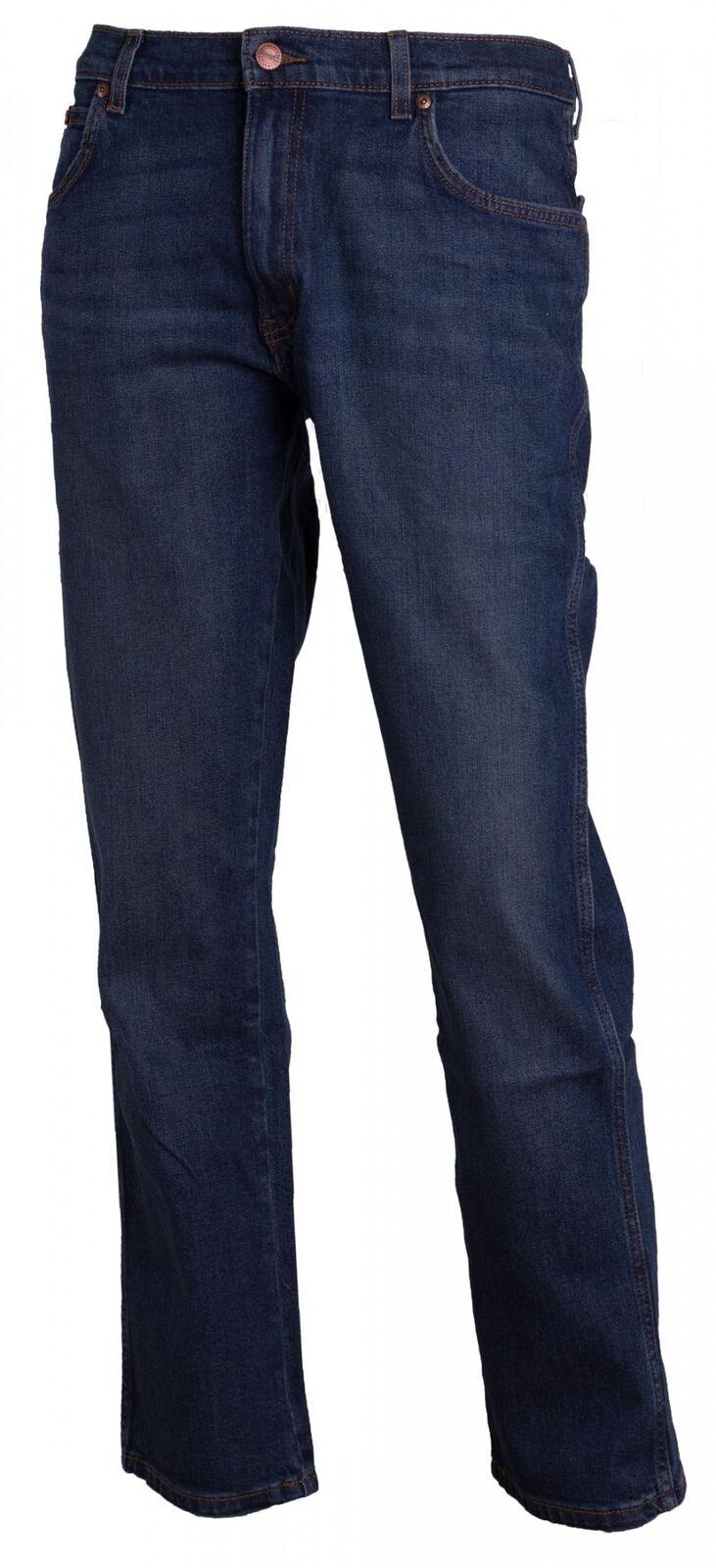 Wrangler Herren Jeans Texas Stretch Stretch Stretch Straight Indigo Wit Blau W1212325F 50742a