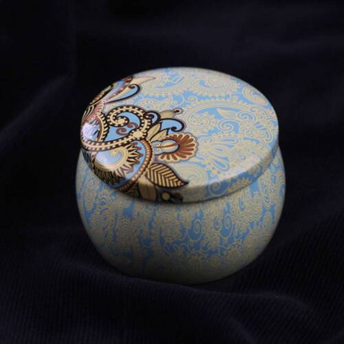 Small Tin Boxes Baking Cookie Tea Packaging Round Drum Tinplate Candy Tin Case