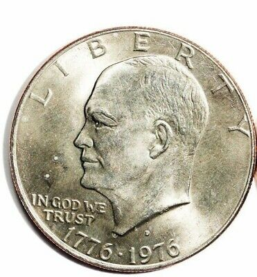 "1776-1976  Eisenhower Bicentennial Dollar /""P/"" Uncirculated Nice"