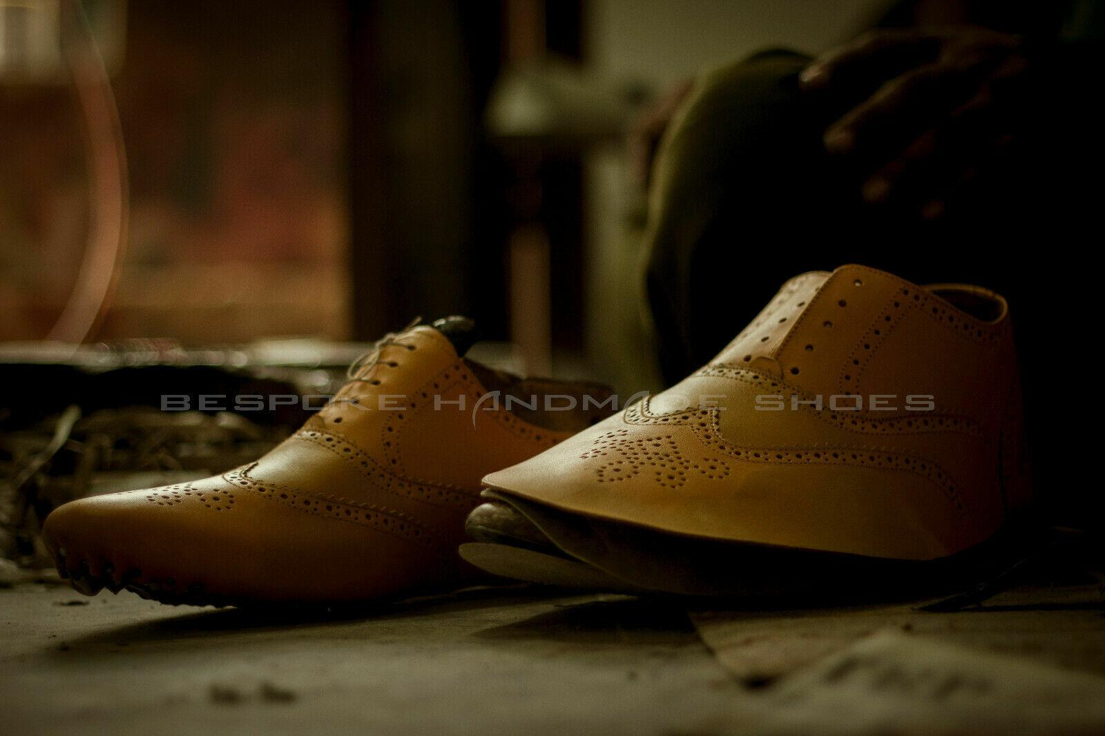 men Fait Fait Fait main Imprimé en cuir de crocodile Lacer Derby Chaussure fa46d7