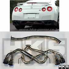 GENUINE HKS LEGAMAX PREMIUM FLUX WELDED CAT BACK EXHAUST 2009-2017 GT-R GTR R35