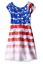 Bonnie Jean Girls Americana 4th of July Print Wrap Lace Back Dress 4 5 6 6X New