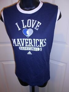 NEW Dallas Mavericks Womens Sizes S-M Navy Blue Sleeveless Adidas Shirt