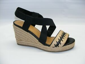 d6f8671a068 GH Bass   Co Women s Brown Rylee Wedge Sandals Espadrille Shoes ...