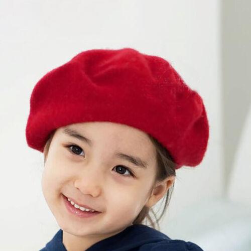 Winter Warm Children Girl/'s Beret French Artist Beanie Cap Stylish Ski Hat