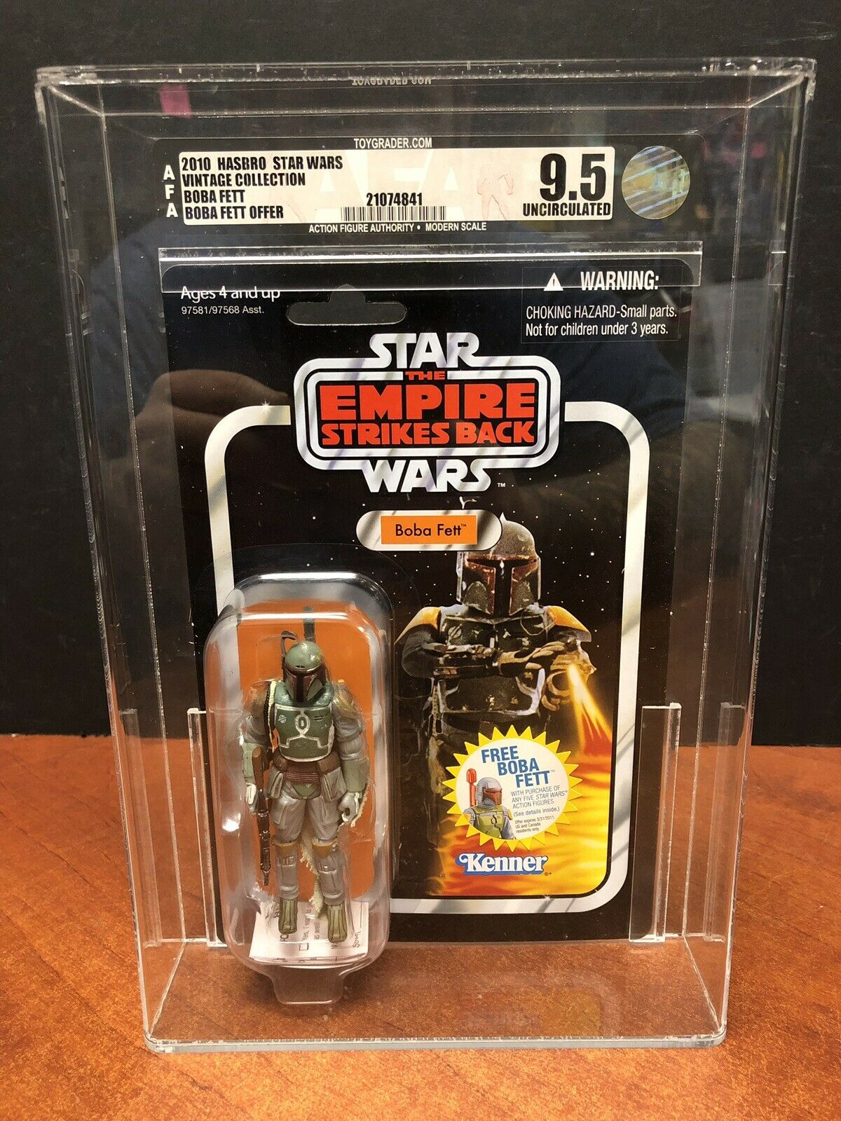 2010 Star Wars Vintage Collection Boba Fett AFA 9.5 KJ016