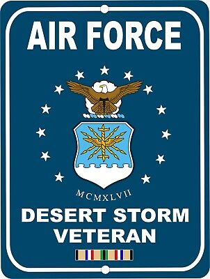 United States NAVY IRAQ Veteran Retro Military Aluminum Sign 9x12