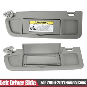 Beige OE Style Interior Left Driver Sun Visor Sunshade Replacement for Honda Civic 06-11