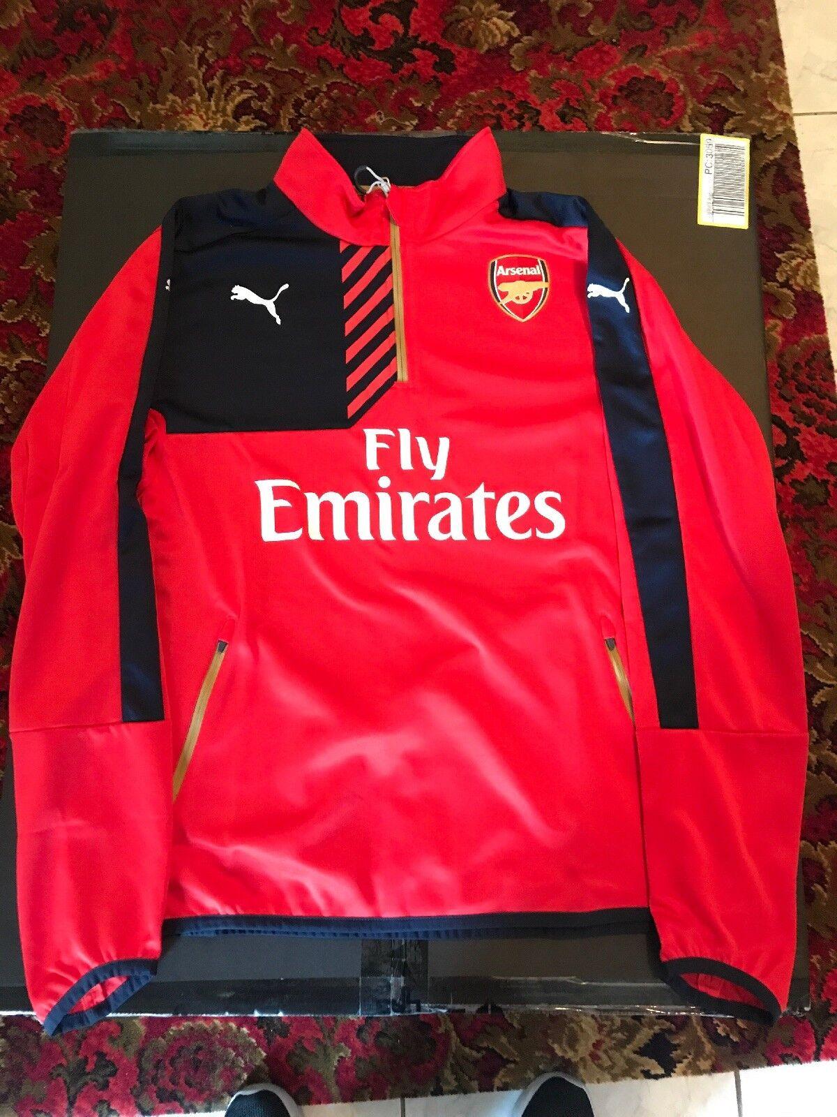 Arsenal 1 4 Training Top 15 16 - XL BNWT - Puma DryCell