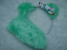 Care Bear Wish Bear Aqua Ears With Care Bear Logo Bow & Stubby Tail Fancy Dress