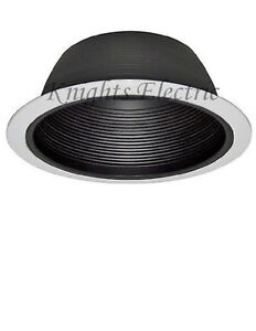 Image Is Loading 6 034 Recessed Black Baffle Can Trim 6