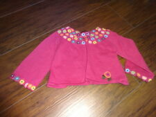 BOUTIQUE CATIMINI 12M 12 MONTHS PINK SWEATER W CROCHETED FLOWERS