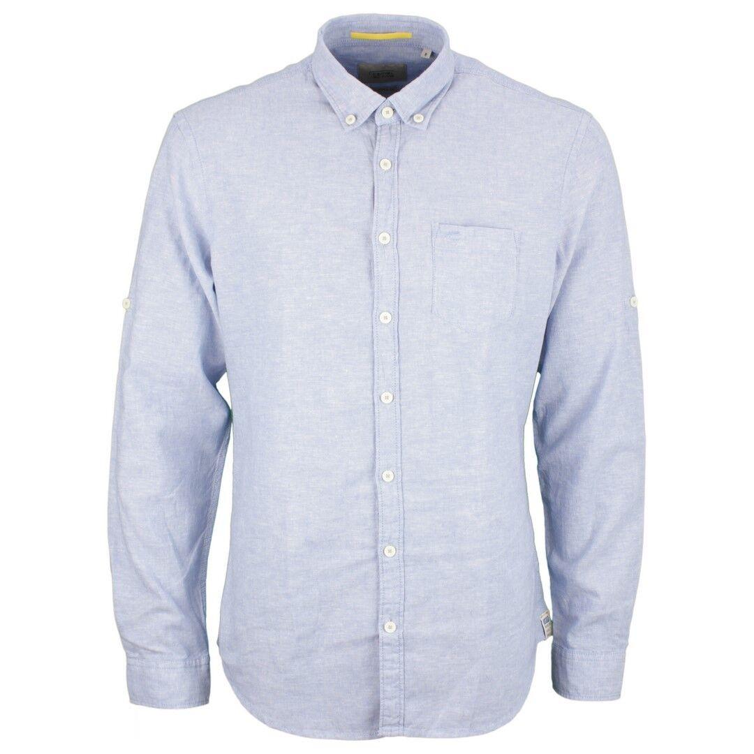 CAMEL Active Uomo Camicia Da Tempo Libero Blu Tinta 115022 13