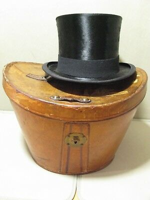 Antico Vintage In Pelle Top Hat Caso Ascot-mostra Il Titolo Originale Fornire Servizi Per Le Persone; Rendere La Vita Più Facile Per La Popolazione