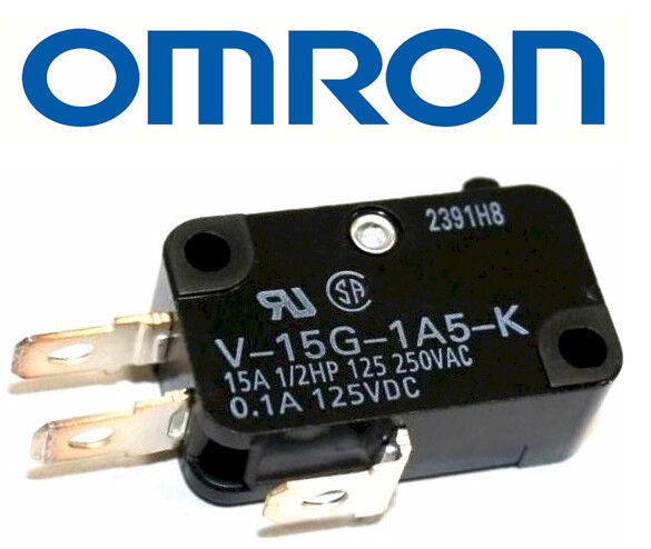 OMRON ELECTRONIC COMPONENTS V-15G-1C25-K MICRO SWITCH PIN PLUNGER SPDT 15A 250V
