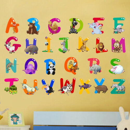 Alphabet ABC Letters Wall Art Sticker Learning Baby Decal Nursery Classroom