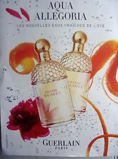 publicité de presse  PARFUM AQUA ALLEGORIA de GUERLAIN   en 2005  ref. 31002