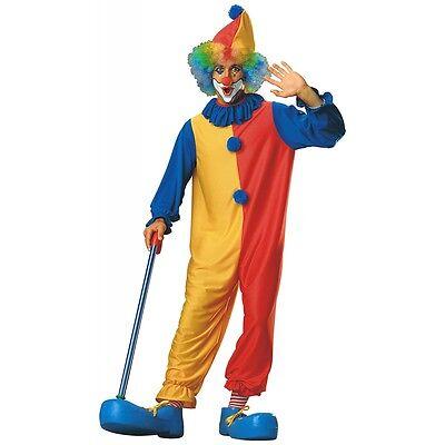 Clown Costume Adult Mens Circus Halloween Fancy Dress