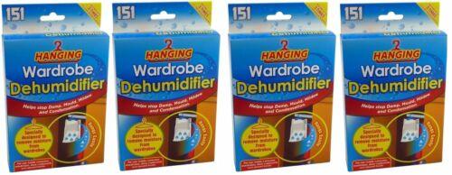 1-48 x Hanging Wardrobe Dehumidifier Damp Mould Mildew Moisture Condensation
