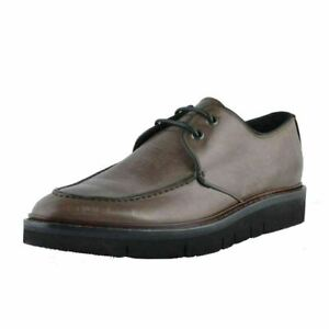 Marc-Jacobs-Men-039-s-Gray-Leather-Casual-Oxfords-Shoes-US-10-IT-43