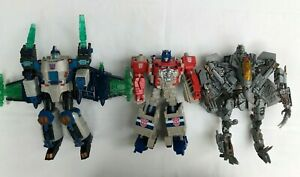 LOT 3 TRANSFORMERS Toys Figures Robots Optimus Prime Hasbro AS IS/ For Parts
