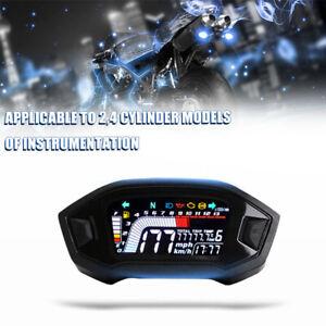 Motorcycle Speedometers Universal Digital Gauge Motorcycle Speedometer//Tachometer//Odometer for Motorcycle Modified Accessories