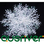 6 Piece White Snowflakes XMAS Christmas Decorations Supplies Hanging Ornaments