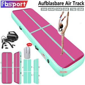 Fbsport 3-6M Air Track Matte Aufblasbar Turnmatte Tumbling Gymnastikmatte Pumpe
