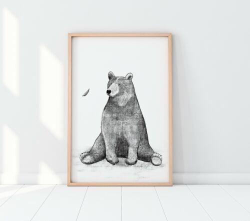 Nursery Print Bear Nursery Animal Prints Nursery Wall Art Animal Wall Art