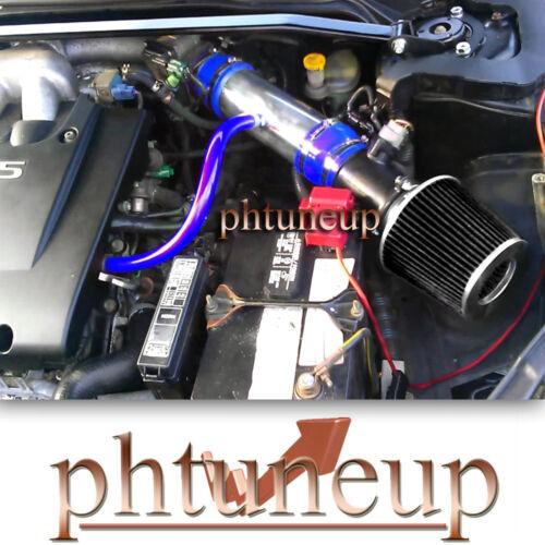 BLUE BLACK AIR INTAKE KIT fit 2002-2006 NISSAN ALTIMA MURANO 3.5L V6 ENGINE